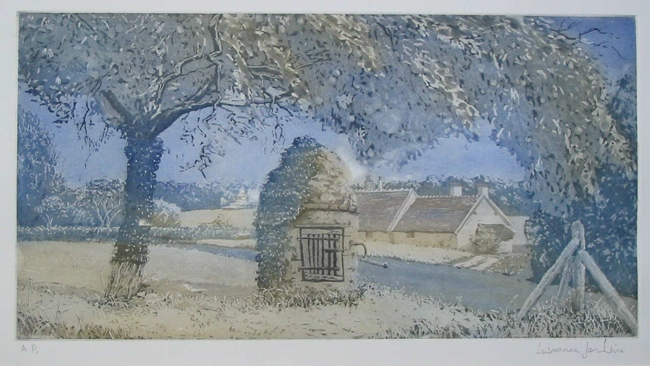 Aquatint of the Well and Pear Tree